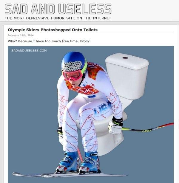 Sad and Useless Humor
