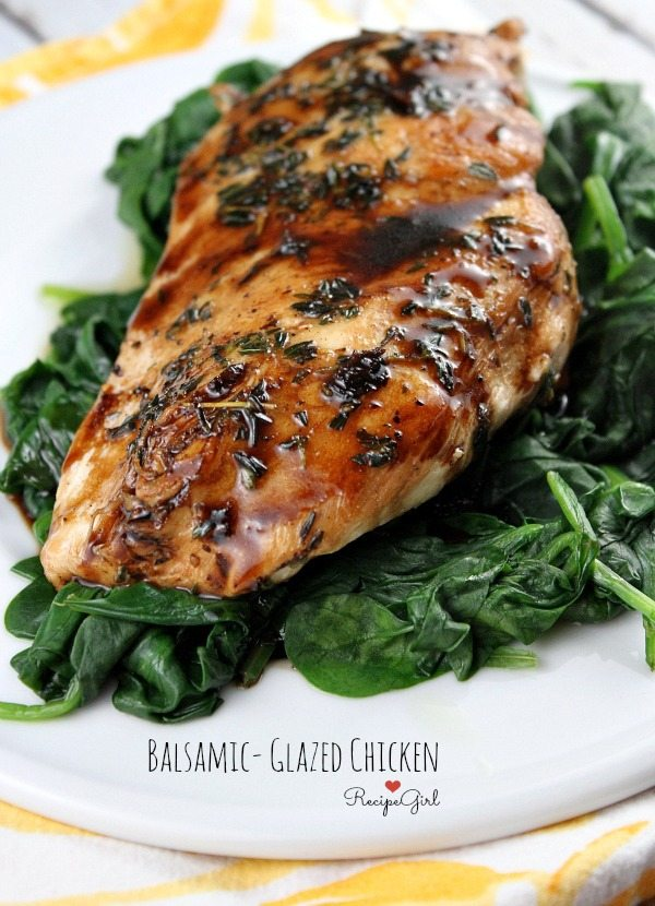 Balsamic Glazed Chicken - Recipe Girl