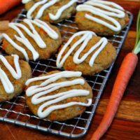 carrot cake cookies on rack