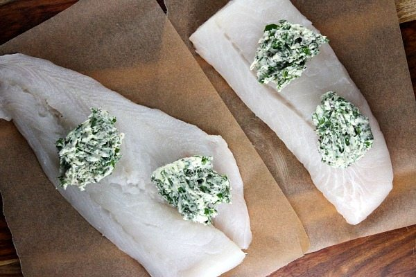 Herb Topped Fish Prep