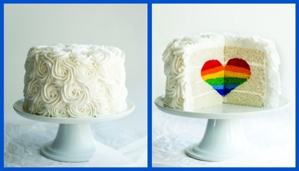 Surprise Inside Heart Rainbow Cake
