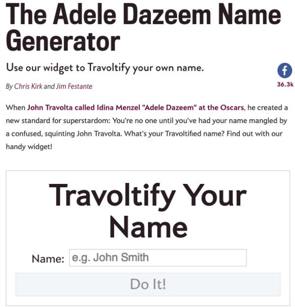 Travoltify Your Name