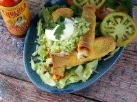 Baked Salmon Taquitos