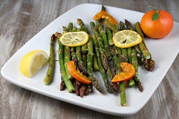 Citrus Roasted Asparagus recipe - RecipeGirl.com