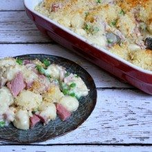 Ham and Swiss Baked Gnocchi