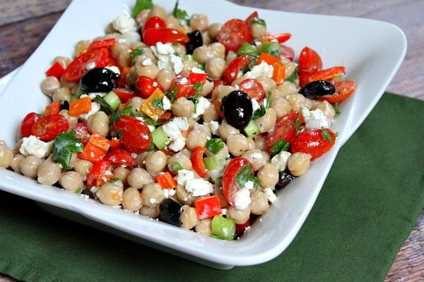 Bowl of Mediterranean Chickpea Salad