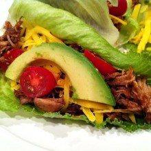 Pulled Pork Lettuce Wraps #recipe