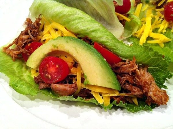 new recipe to share with you today… Pulled Pork Lettuce Wraps