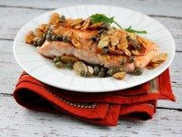 Salmon with Brown Butter, Almonds and Capers