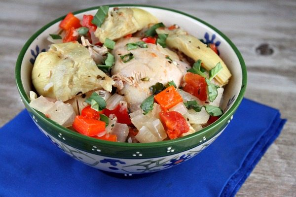 Slow Cooker French Basil Chicken