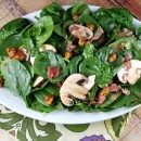 Spinach Salad with Hot Prosciutto Dressing