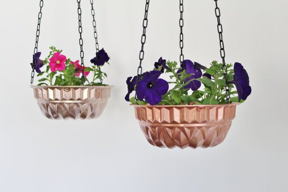 bundt pan hanging planter