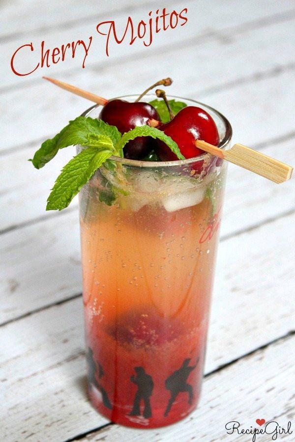 Cherry Mojitos #recipe - RecipeGirl.com