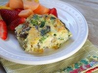 Crustless Brie, Vegetable and Egg Bake