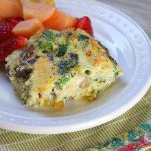 Crustless Brie, Vegetable and Egg Bake