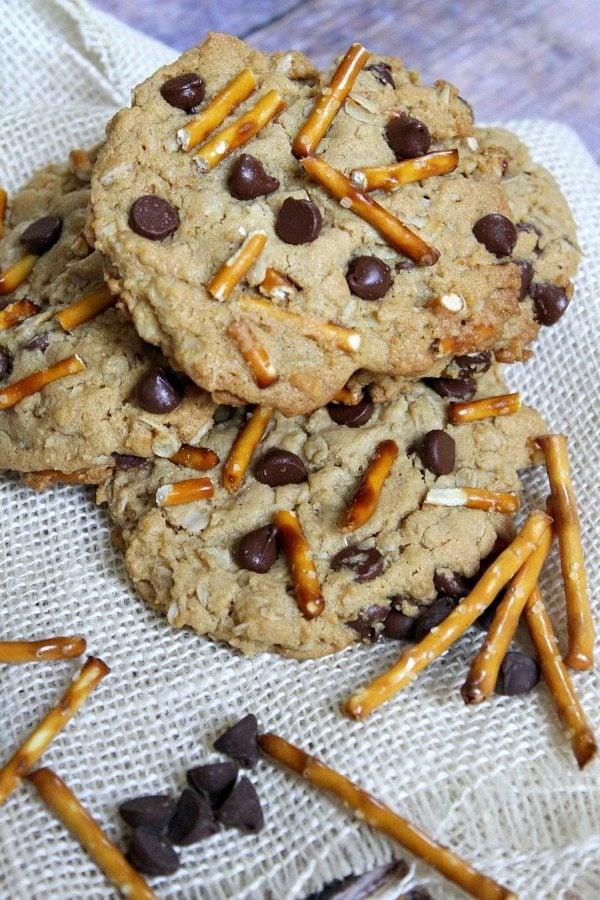 High Energy Peanut Butter Breakfast Cookies #recipe - RecipeGirl.com