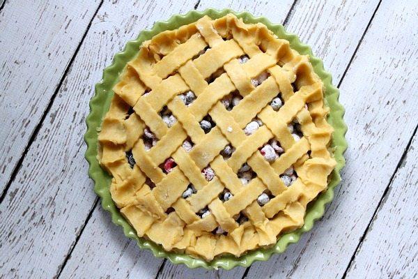 Raspberry- Blueberry Pie 4