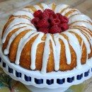 Raspberry- Lemonade Bundt Cake