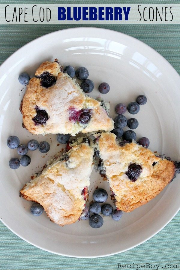 Cape Cod Blueberry Scones #recipe - RecipeBoy.com