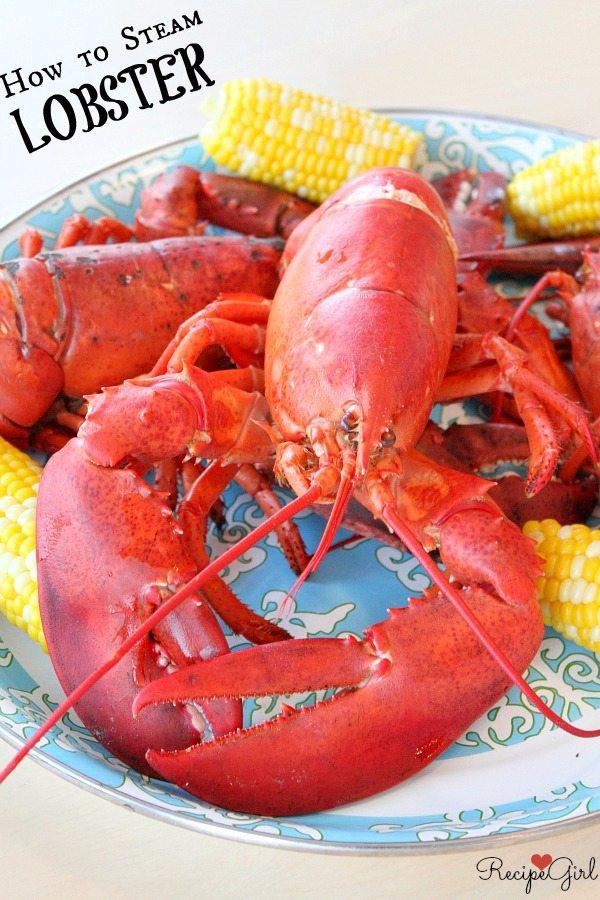 How to Steam Lobster - RecipeGirl.com