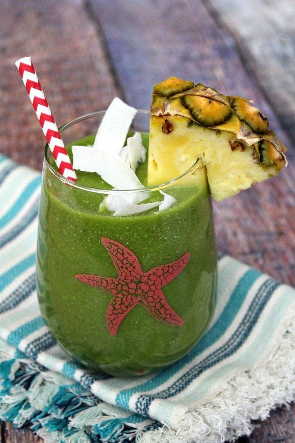 Tropical Green Smoothie recipe from RecipeGirl.com