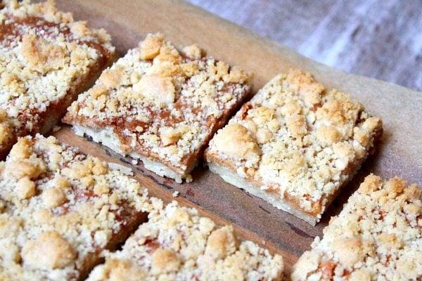 Caramel Bars #Recipe with Crumb Topping
