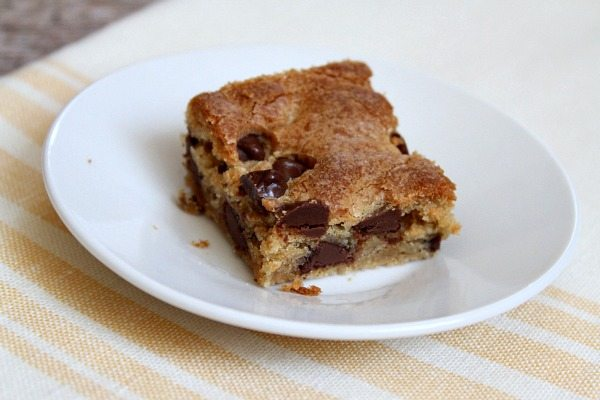 Chocolate Chip Peanut Butter Bars #recipe
