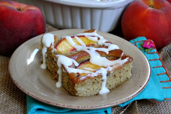 Fresh Peach Cake #recipe
