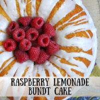 pinterest image for raspberry lemonade bundt cake