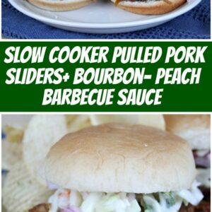 pinterest collage image for slow cooker pulled pork sliders