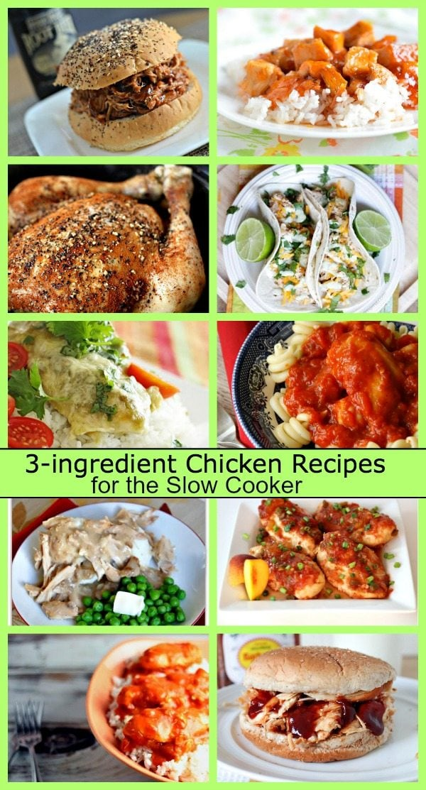 3 ingredient chicken crock pot recipes