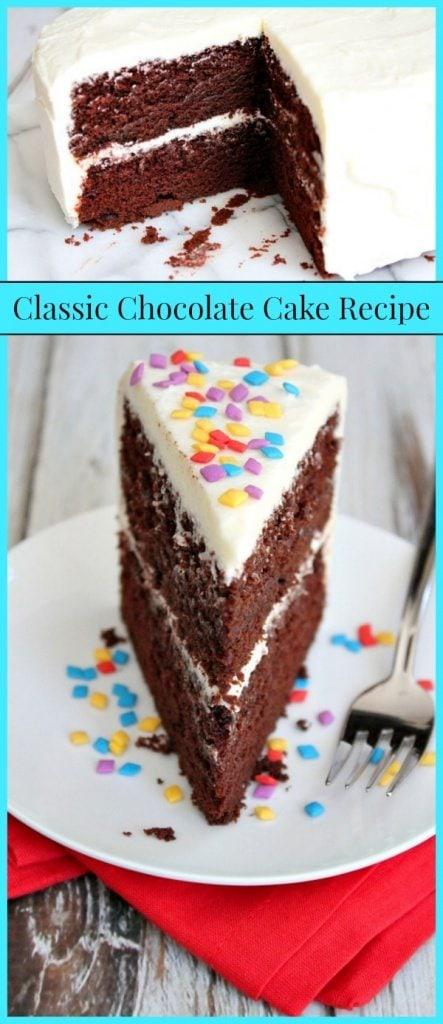 Classic Chocolate Cake Recipe - RecipeGirl.com