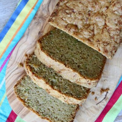 loaf of zucchini bread sliced