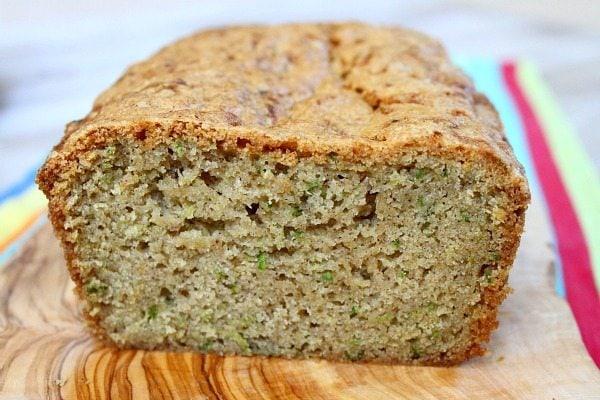 Classic Zucchini Bread sliced open