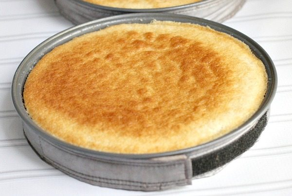 White Cake in a pan