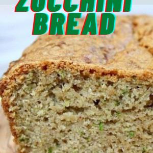 pinterest image for zucchini bread