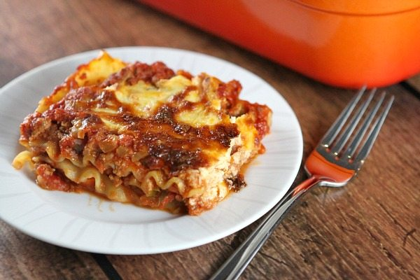 Classic Light Lasagna #recipe - RecipeGirl.com