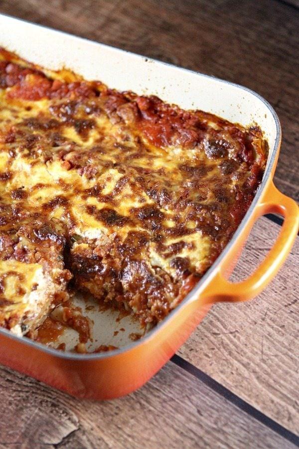 Classic Light Lasagna #recipe