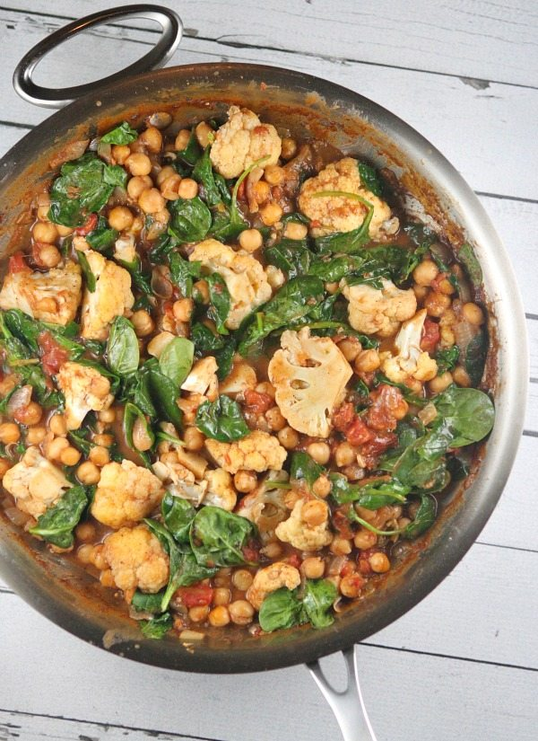 One Pot Coconut Chickpea Curry recipe from RecipeGirl.com