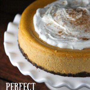 pumpkin cheesecake pinterest pin