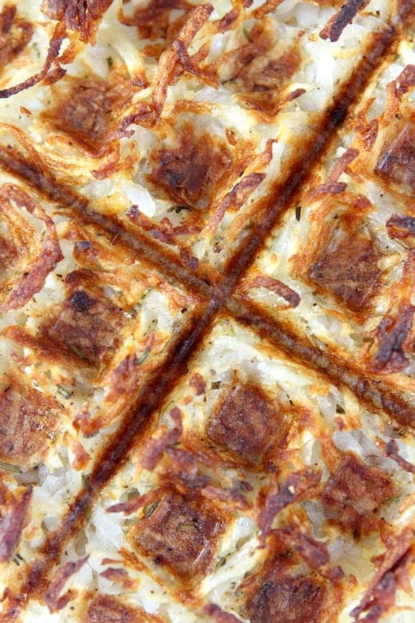 Waffled Hash Browns #recipe -