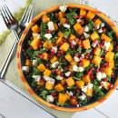 Kale Salad with Butternut Squash
