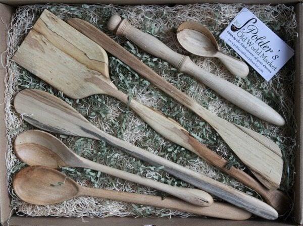 Carving wooden kitchen utensils whitney peek