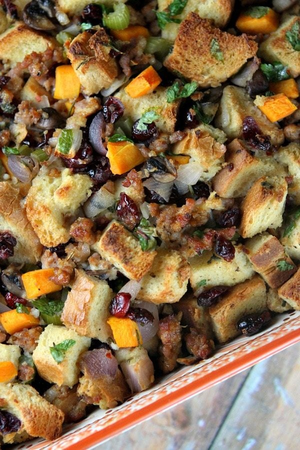 low carb sausage and herb stuffing