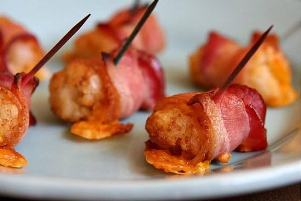 Bacon & Cheese Wrapped Tater Tots