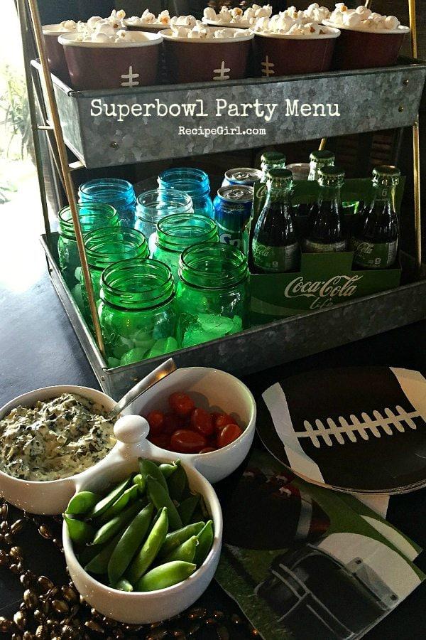 Superbowl Party Menu at RecipeGirl.com