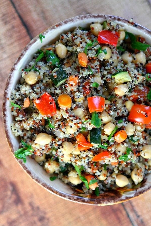 Roasted Vegetable Quinoa recipe by RecipeGirl.com