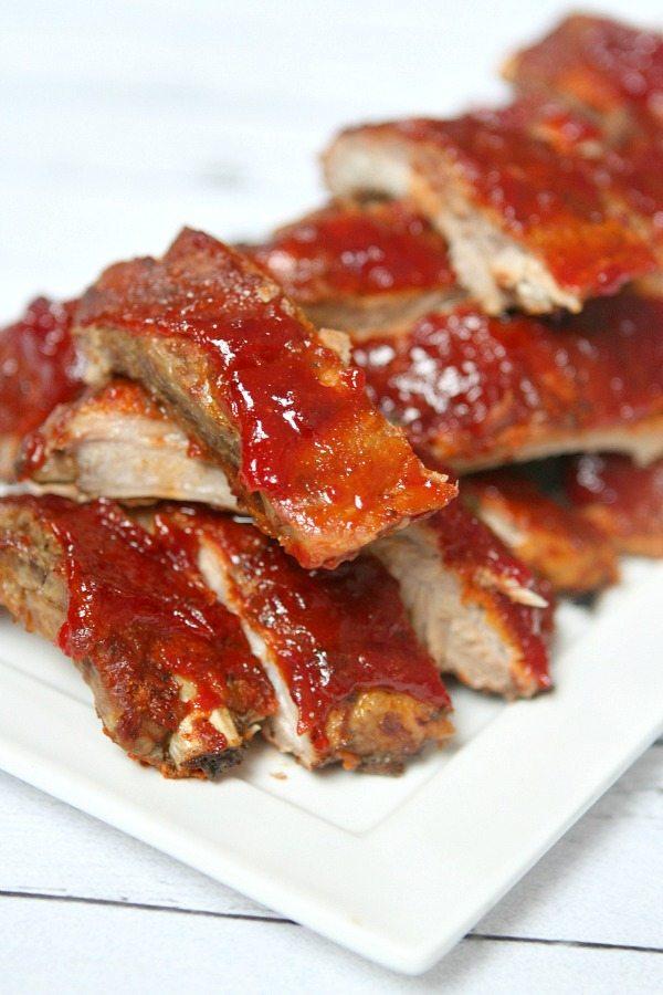 Slow Cooker Sriracha- Cranberry Baby Back Ribs Recipe