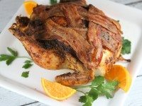 Roasted Chicken with Bacon