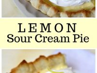pinterest collage image for lemon sour cream pie